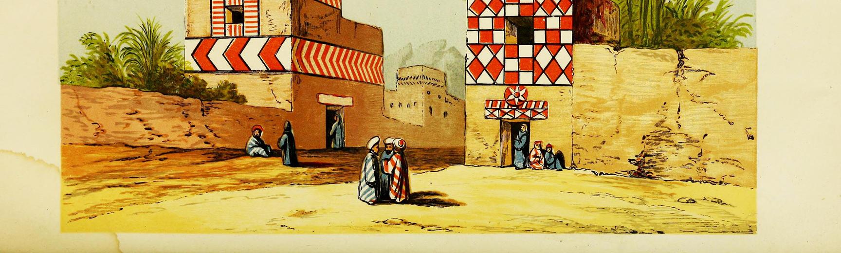 Illustration of 'Egyptian Village Life'