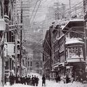 Telephone, telegraph, and power lines over the streets of New York City, 1888. Source: Wikimedia Commons