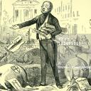 Illustration of a man passing out bills