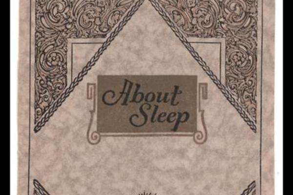 A book cover for _About Sleep_