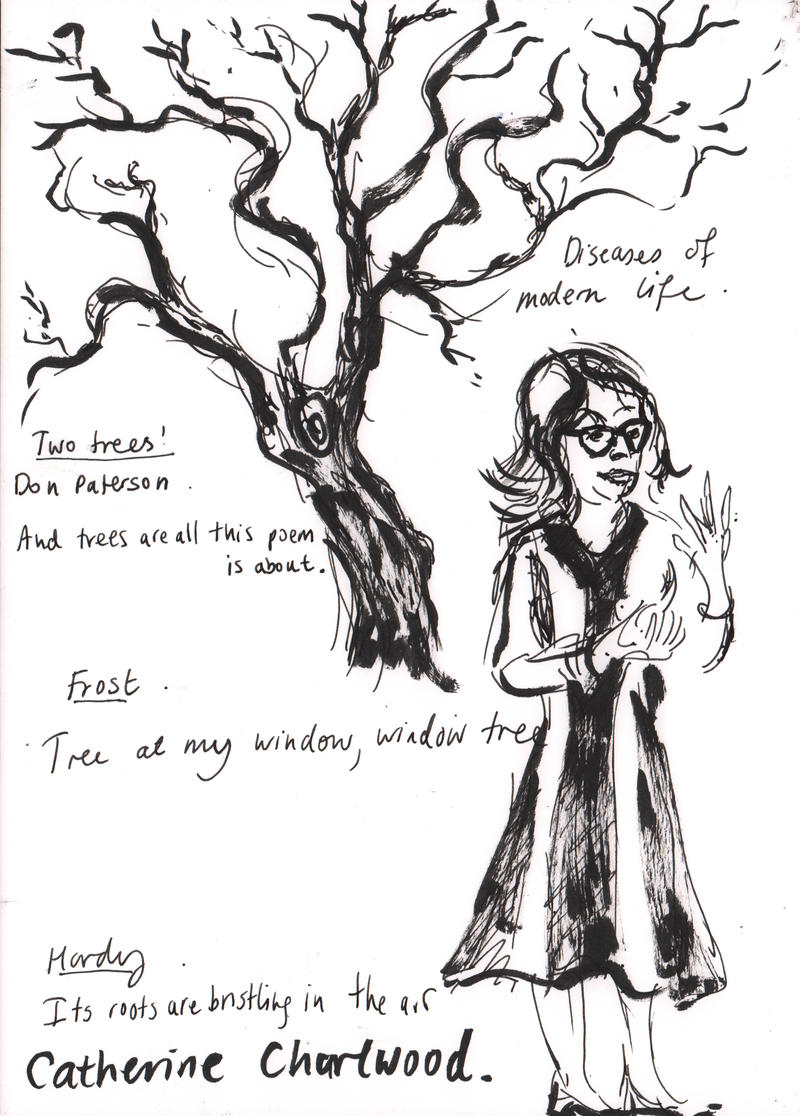 Drawing by Henny Beaumont, inspired by Catherine's talk