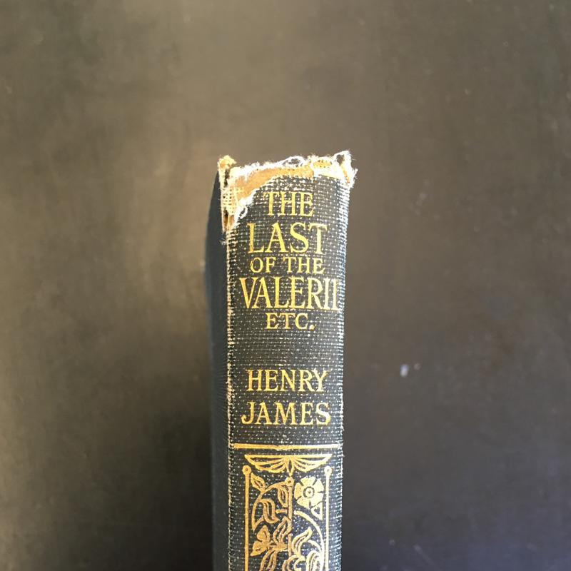 An early edition of James's The Last of the Valerii