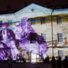 Photograph of projection from Victorian Light Night